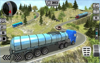 Game Oil Tanker Transporting Truck App