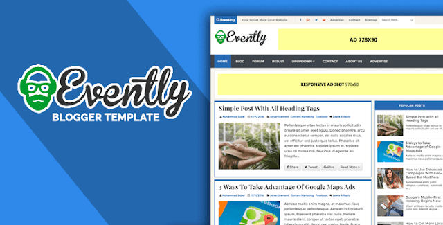 Evently Blogger Template
