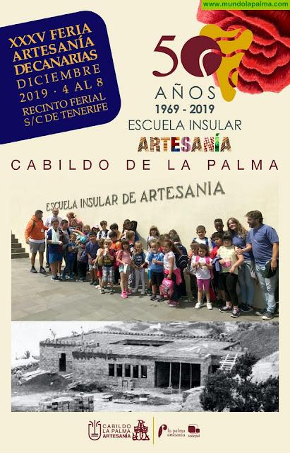 La Palma llevará la celebración de los 50 años de la Escuela Insular de Artesanía a la feria regional del sector