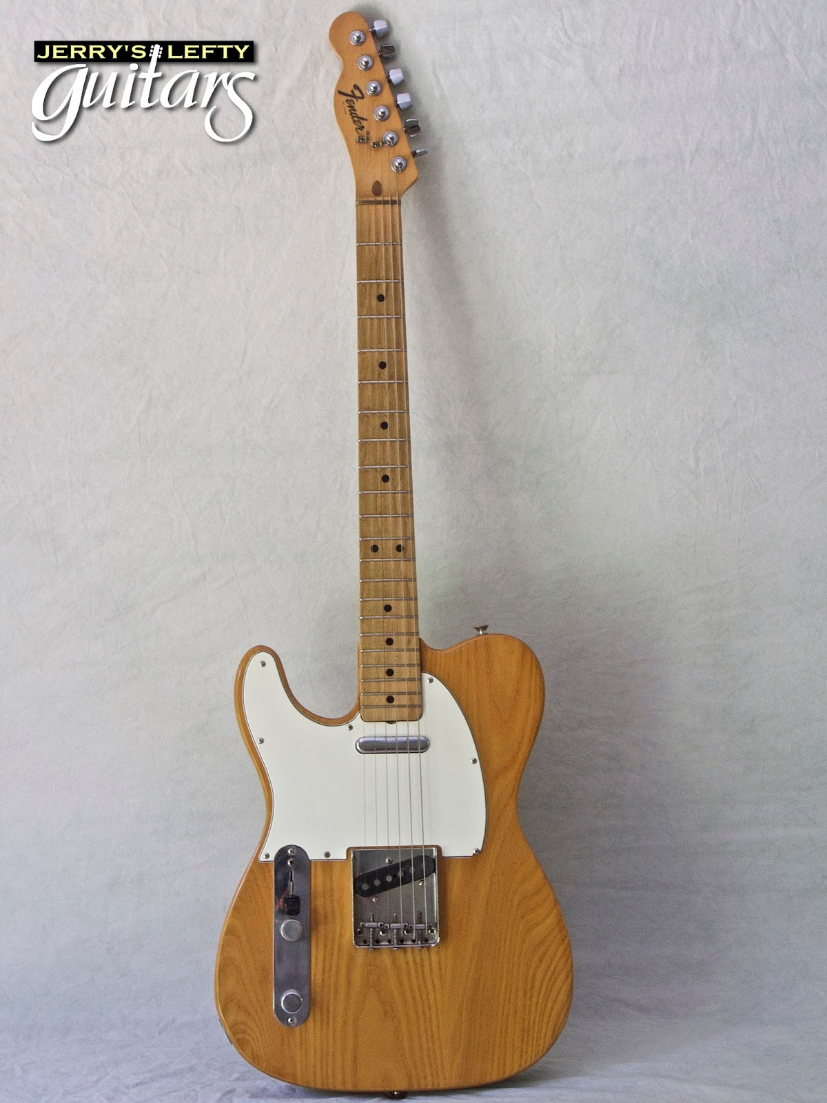 jerry 39 s lefty guitars newest guitar arrivals updated weekly 1975 fender telecaster natural. Black Bedroom Furniture Sets. Home Design Ideas