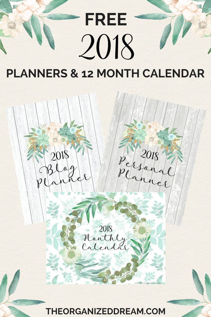 16 DIY Organization Projects: 2018 Free Printable Calendars (Part 2)