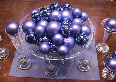 purple ornament centerpiece