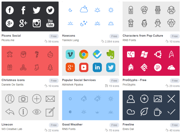 ICONFINDER SET ICONOS GRATIS