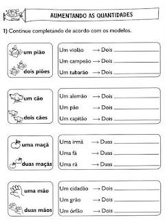 Atividades Português 2º Ano Ensinando Com Carinho