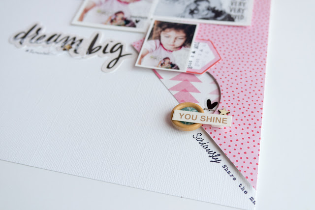scrapbook layout | dream big by kushi per Scrappin'School
