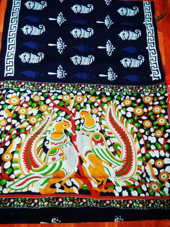 Latest and Hot trending Kalamkari print Saree's with blouse