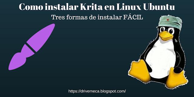 Como instalar Krita en Linux Ubuntu