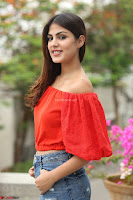 Rhea Chakraborty in Red Crop Top and Denim Shorts Spicy Pics ~  Exclusive 207.JPG