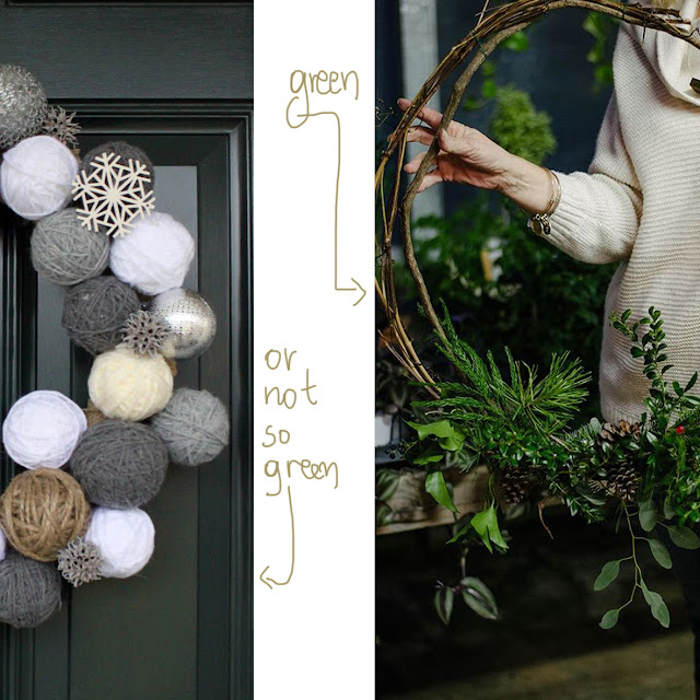 big wreaths minimalist the round button blog