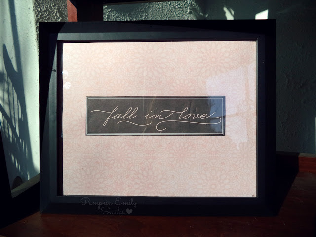 Fall in love frame
