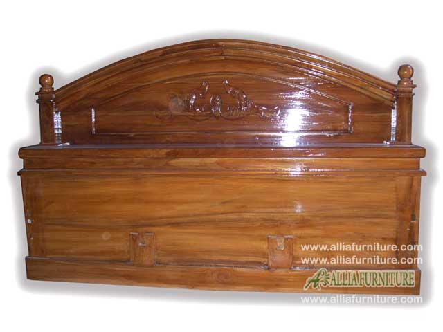 tempat tidur klender kayu jati bubut