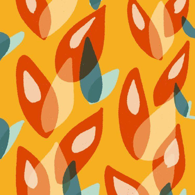 Abstract pattern in warm colors, made with Paper by Boriana Giormova