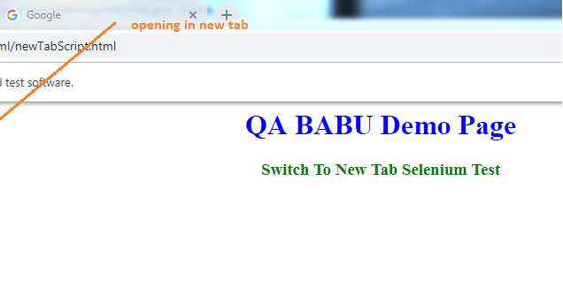 QA BABU: How to switch to new tab in Selenium automation?