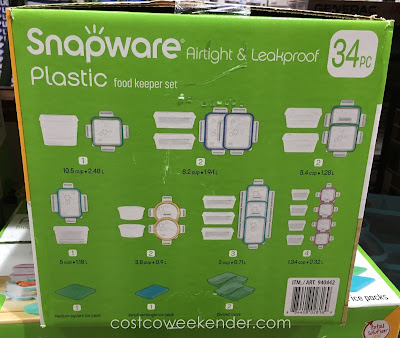 Snapware Total Solution Plastic Food Keeper Set - great for leftovers the next day