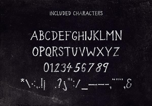Font Terbaru Untuk Desain Grafis - In the Wood Font Letters