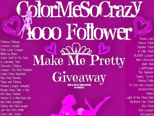 ColorMeSoCrazy 1000 Follower Make Me Pretty Giveaway