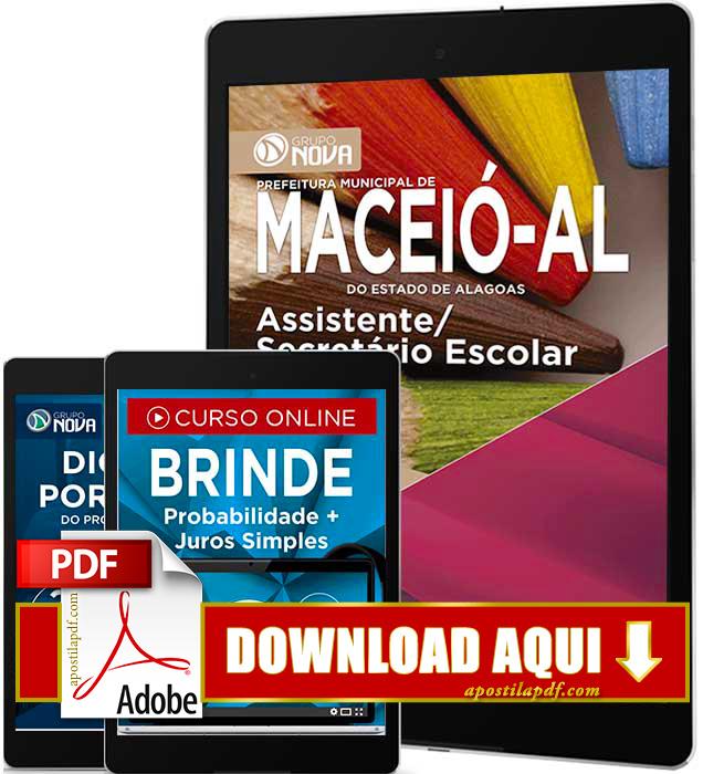 Apostila Prefeitura de Maceió 2016 PDF Download Assistente Secretário Escolar PDF