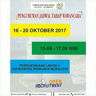 Pengumuman Tahap Wawancara KOMMUN Palembang