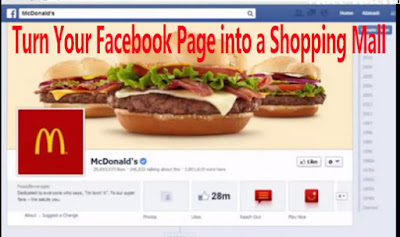 turn your facebook page to a sales store