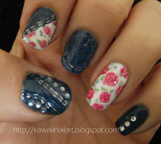 Rose Nail Art Design