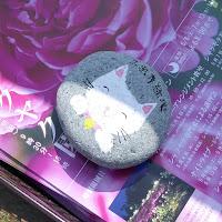久宝寺緑地のシャクシャク園  パンフレットの重石