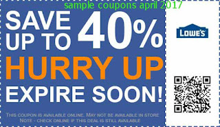 Lowes Home Improvement coupons april 2017