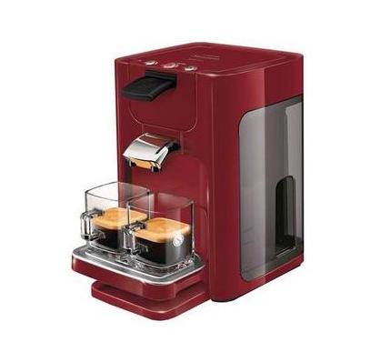 Cafetera Senseo Quadrante en color rojo