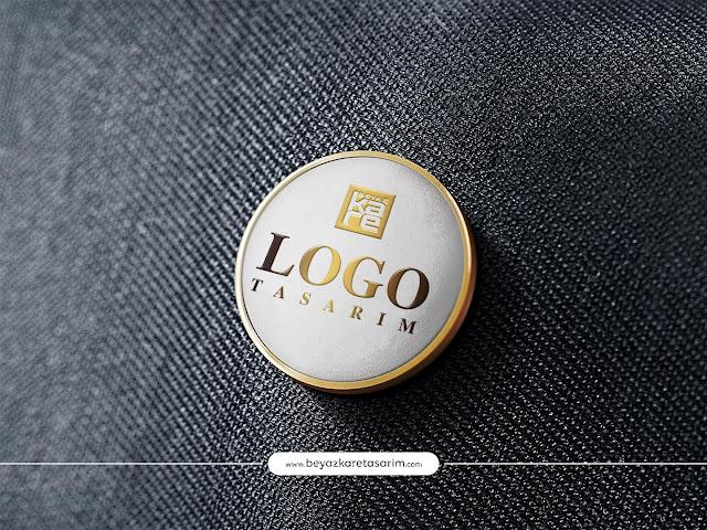3D logo tasarımı gold rozet