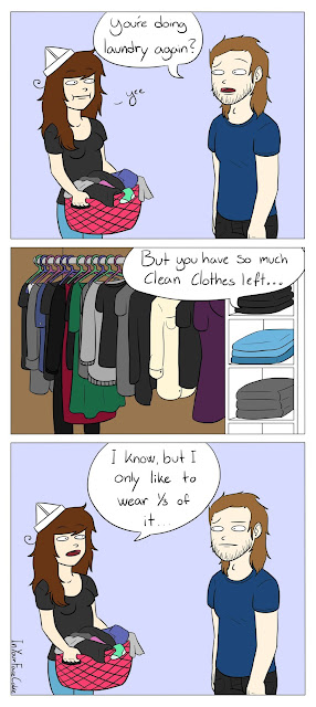 Comic about doing more Laundry than necessary