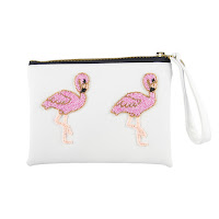White Flamingo Clutch