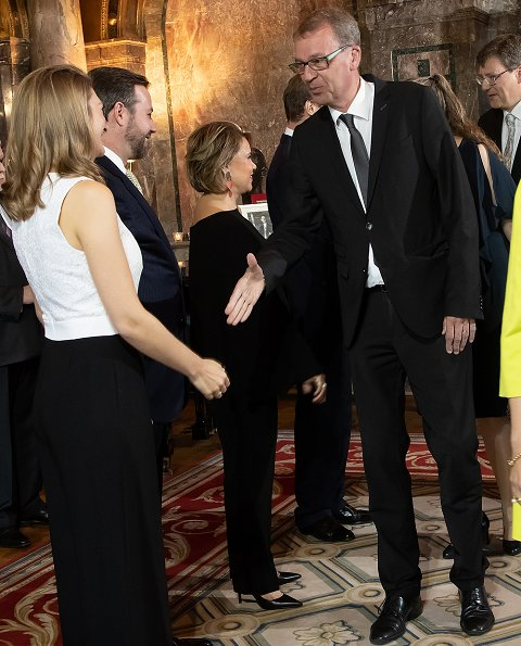 Grand Duke Henri, Grand Duchess Maria Teresa, Hereditary Grand Duke Guillaume and Hereditary Grand Duchess Stéphanie. Princess Stephanie