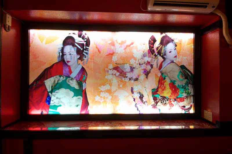 2 girls,geisha,art