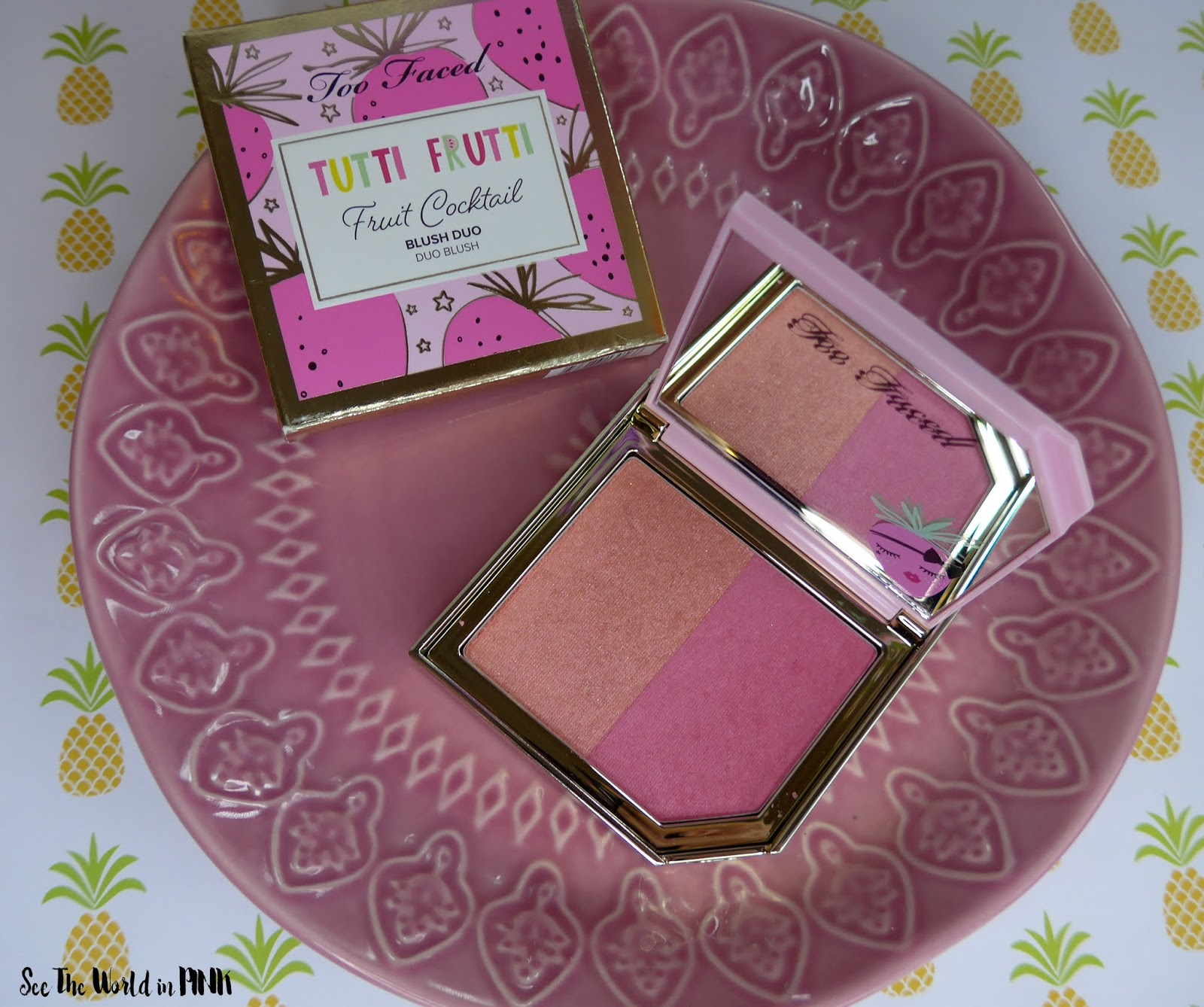 Too Faced Tutti Frutti Collection - Fruit Cocktail Blush Duo Strobeberry