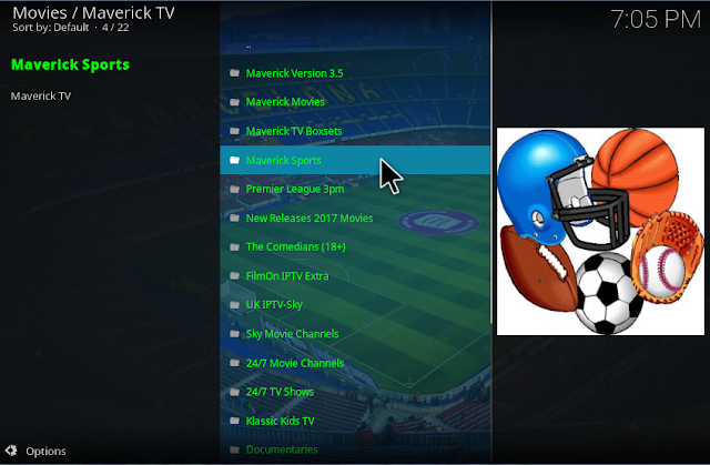 Watch Live TV with Maverick TV Kodi addon