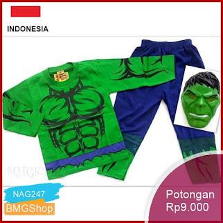 NAG247 Kostum Anak Laki Laki Hulk Superhero Murah Bmgshop