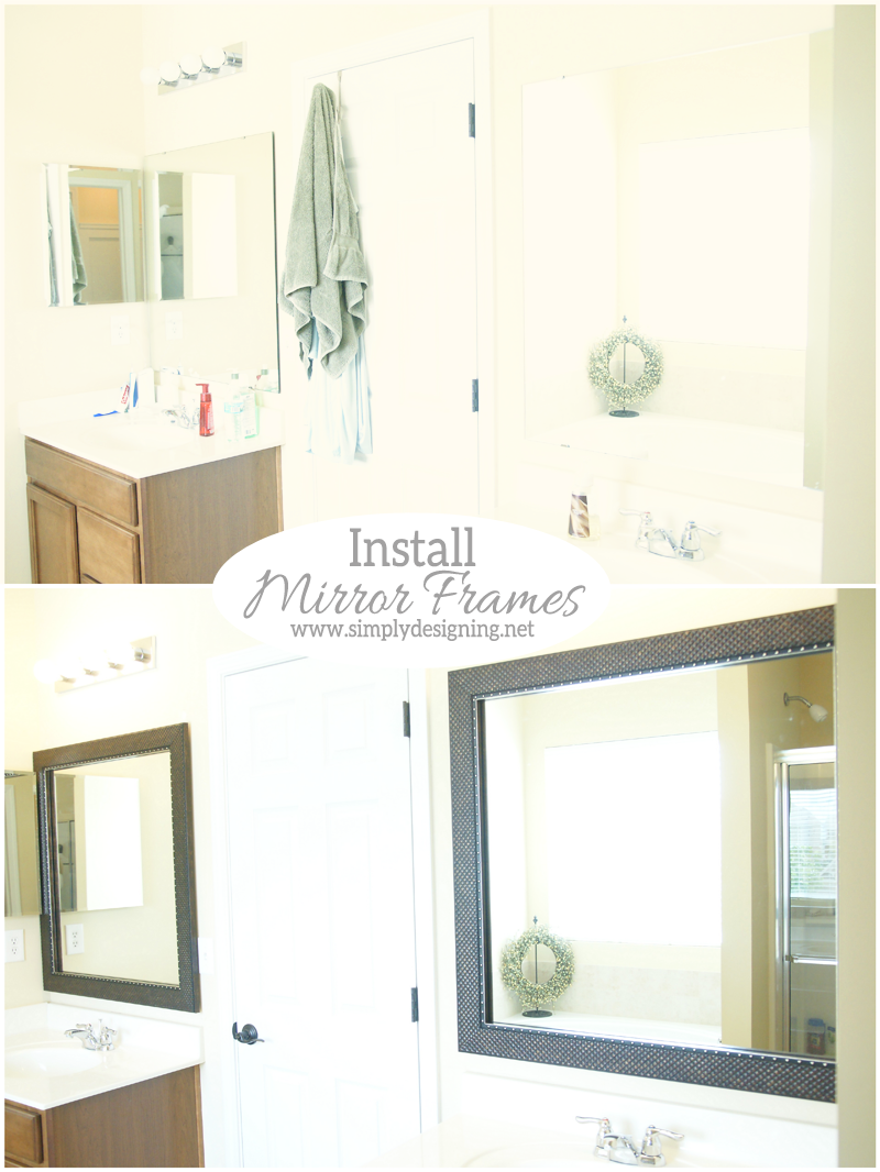 How to Install Bathroom Mirror Frames in about 10 minutes! | #diy #homeimprovement #homedecor #bathroom #bathroomremodel #remodel
