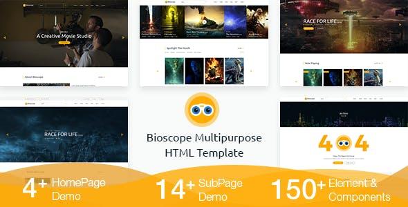 Bioscope - HTML Template Free Download
