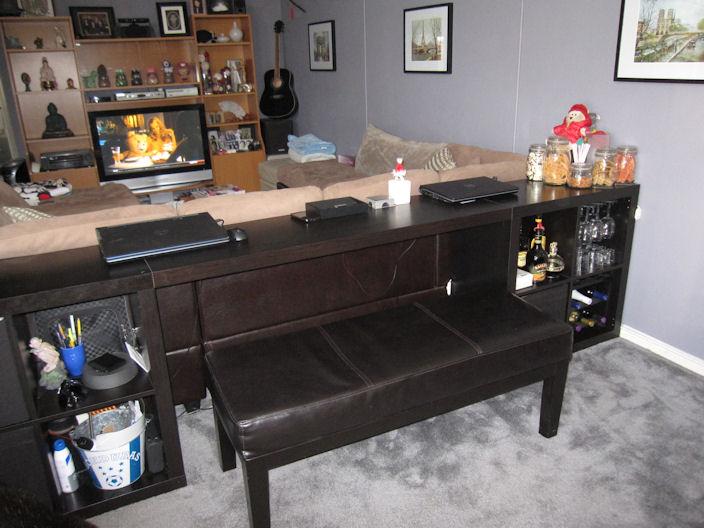 EXPEDIT sofa table/bar/computer desk - IKEA Hackers - IKEA ...