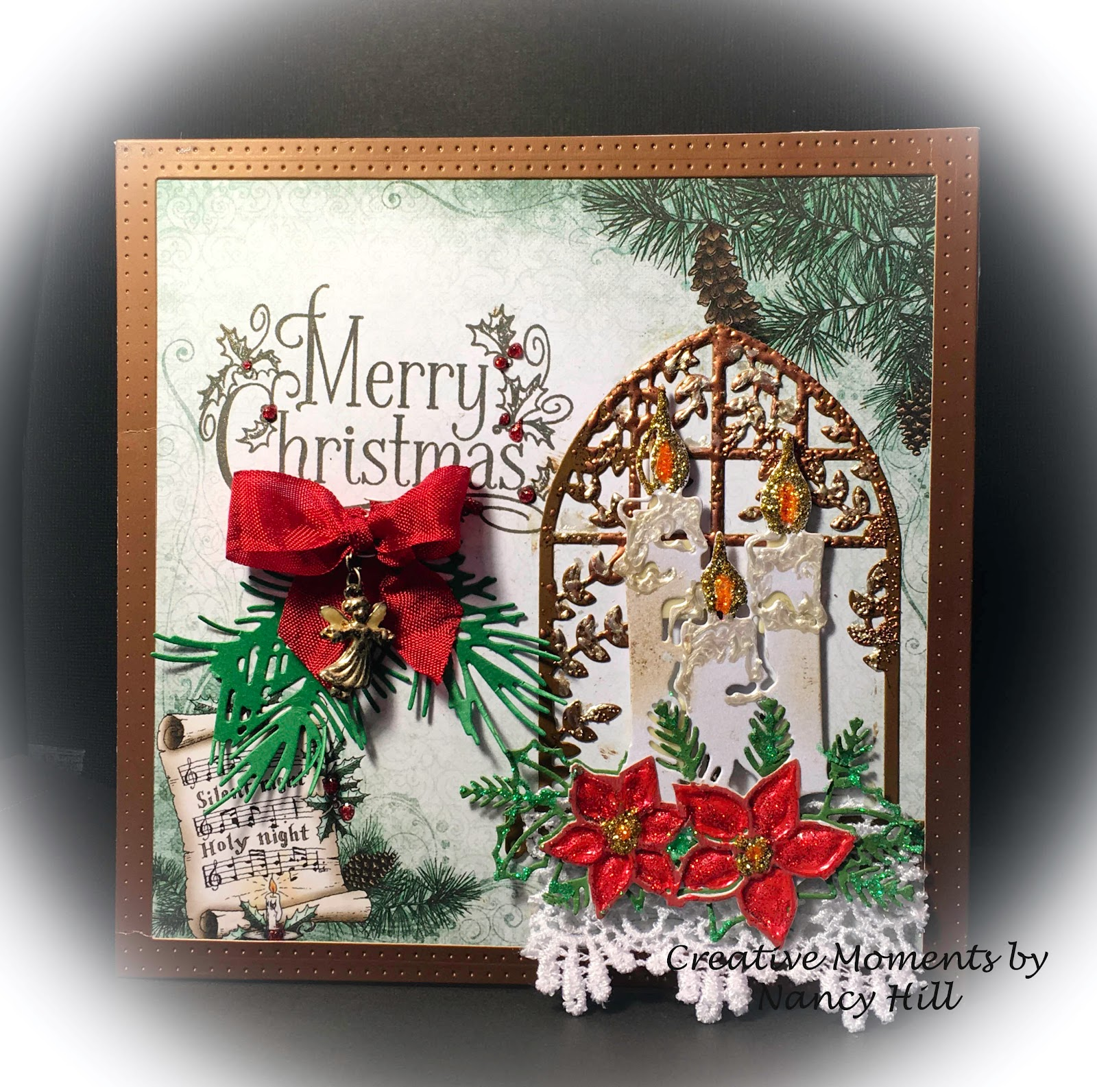 Creative Moments by Nancy Hill: Silent Night - Holy Night Christmas card