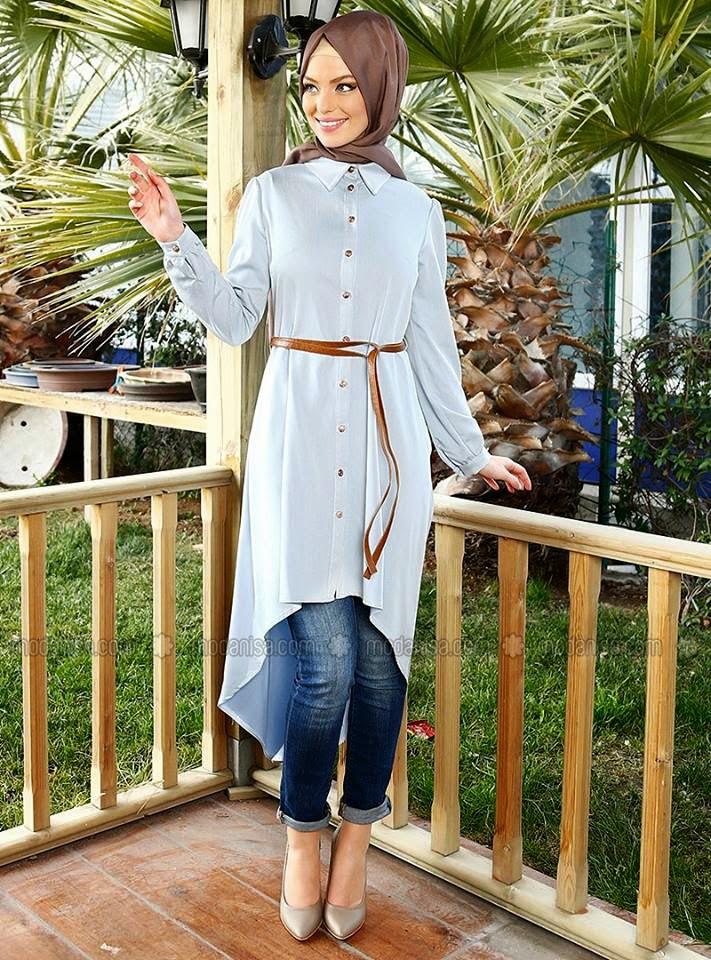 Fabuleux Hijab moderne - Idee tenue hijab hiver | Beautiful Hijab Styles GW76