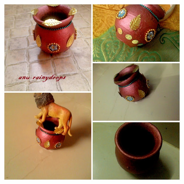 Creative of rainy diy craft pot decoration pot for Art and craft pot decoration