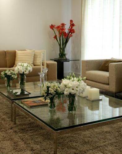 Mesas de centro em ao inox e vidro  Design Inox