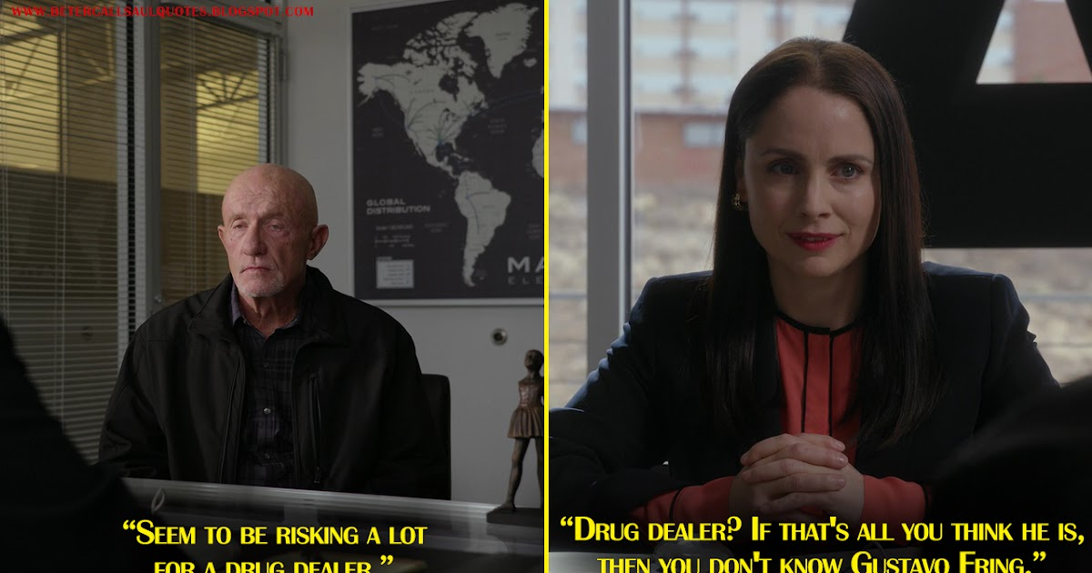 Mike Ehrmantraut: Seem to be risking a lot for a drug ...