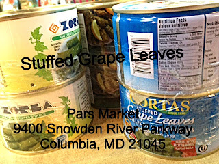 Can of Stuffed Grape Leaves at the Counter Pars Market in Columbia Maryland