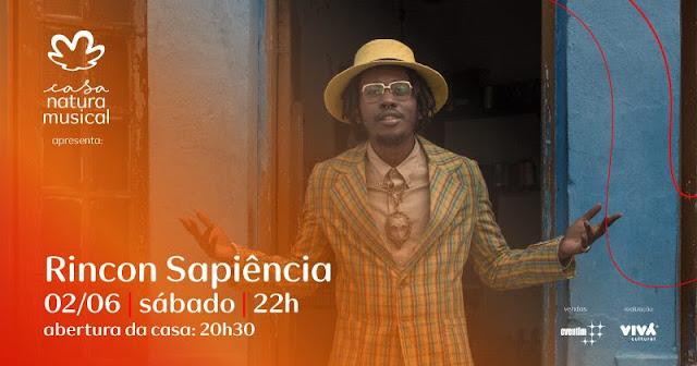 Rincon Sapiência celebra um ano de Galanga Livre em show na Casa Natura Musical
