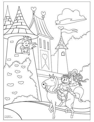 Fairy Tale Printable Coloring Pages