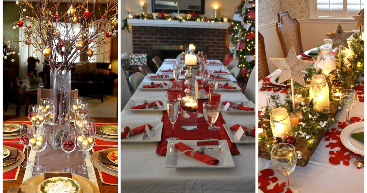12 ideas de decoraci n para mesas navide as cositasconmesh - Mesas de navidad decoracion ...