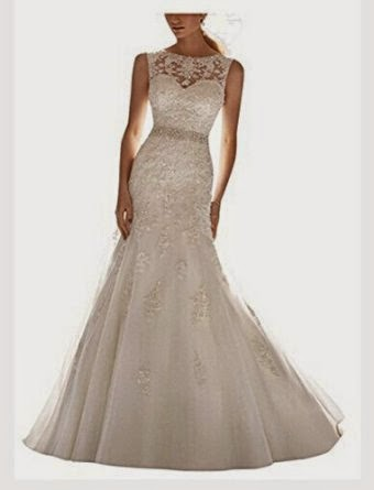 Dapene Latest Sleeveless Lace Beading Wedding dress