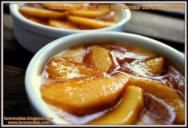 Natillas al horno con manzana caramelizada, receta de la abuela 03