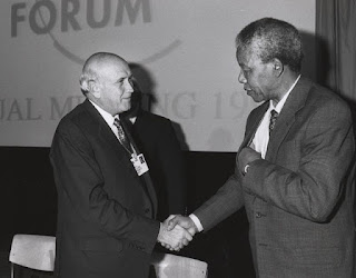 With the last apartheid president F. W. de Klerk